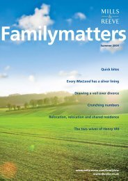 Family Matters - Summer 2009 - Mills & Reeve