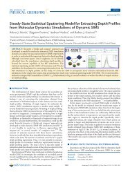Steady-State Statistical Sputtering Model for Extracting Depth ...