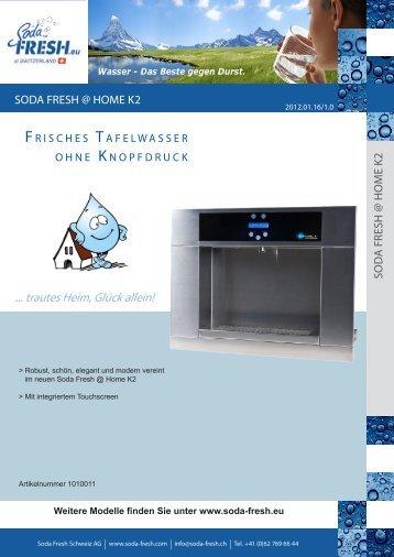 PDF Download Datenblatt K2 @ Home - Soda Fresh Schweiz AG