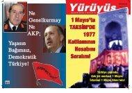 1 May›s'ta TAKS‹M'DE 1977 Katliam›n›n Hesab›n› Soral›m! 1 May›s ...