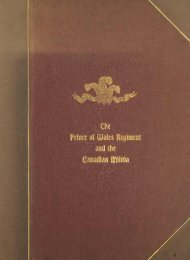 The Origin and Services of the Prince of Wales Regiment