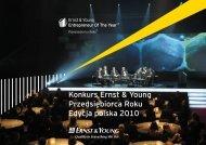 Konkurs Ernst & Young Przedsiębiorca Roku Edycja polska 2010