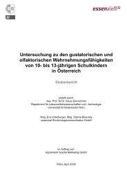 Untersuchung zu den gustatorischen und olfaktorischen ...