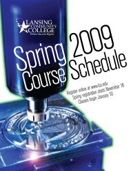Course Index - Lansing Community College