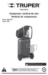 Compresor vertical de aire Vertical air compressor - truper