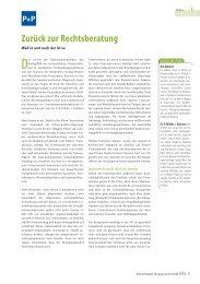 Zurück zur Rechtsberatung – 375 KB - P+P Pöllath + Partners