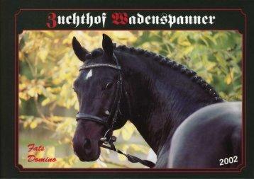 Hengstkatalog 2002 - Zuchthof Wadenspanner