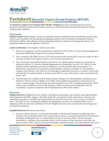 Bluegrass State Skills Corporation - Kentucky Cabinet for Economic ...