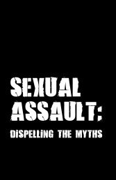 Sexual Assault: Dispelling the Myths - Nova Scotia Barristers' Society