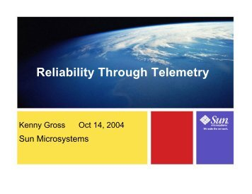 New Telemetry Innovations for Enhanced Reliability ... - RAD Lab