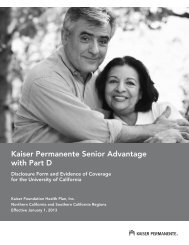 Disclosure form and evidence of coverage - Kaiser Permanente ...