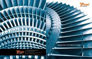 Triveni Steam Turbine Brochure - Esscano Power Services Ltd