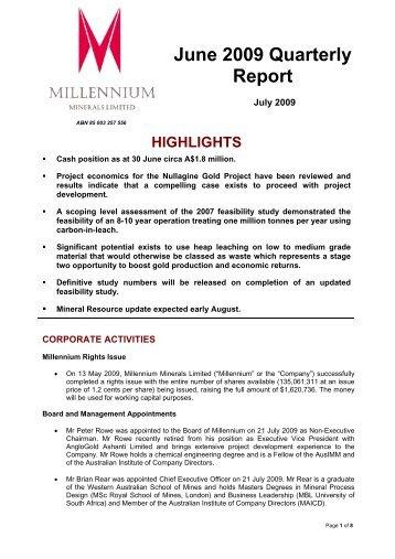 Download - Millennium Minerals Limited