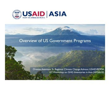Overview of US Government Programs - GIO Greenhouse Gas ...