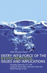entry into force of the kyoto protocol: issues and implications - CISDL