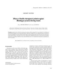 Bacillus thuringiensis jordanica» against «Meloidogyne javanica»