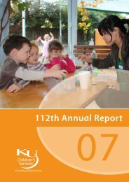 KU Children's Services Annual Report 2007