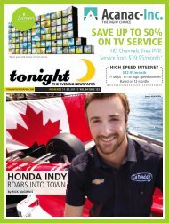 SAVE UP TO 50% ON TV SERVICE - tonight Newspaper