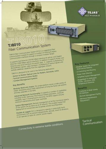 Modular, multiservice sensor to shelter ... - Tejas Networks