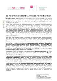 expo riva schuh india passes its third test - Riva del Garda ...