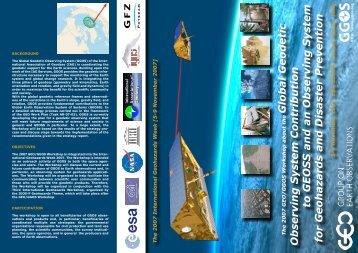 The Workshop Flyer - GGOS