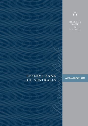 Reserve Bank of Australia Annual Report 2009 - Polymer Bank ...