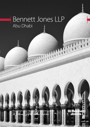 Bennett Jones Abu Dhabi Brochure