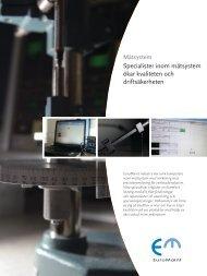 Specialister inom mätsystem ökar kvaliteten och driftsäkerheten