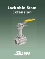 Lockable Stem Extension - Sharpe® Valves