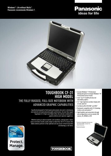 Toughbook CF-31 high Model The Fully rugged, Full ... - Gesat.com