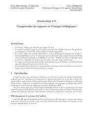 Compression de signaux et d'images biologiques - Moodle - École ...