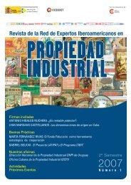 Nº1 Revista digital de la REI en Propiedad Industrial - Inicio