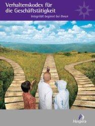 Verhaltenskodex für die Geschäftstätigkeit - Hospira