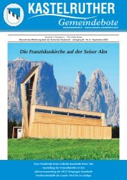 Kastelruther Gemeindebote - Ausgabe September 2009 (4,06 MB