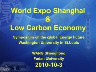 World Expo Shanghai & Low Carbon Economy - mageep ...