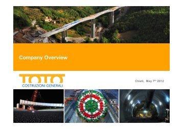 TOTO Costruzioni Company Profile 30052012 - TOTO SpA