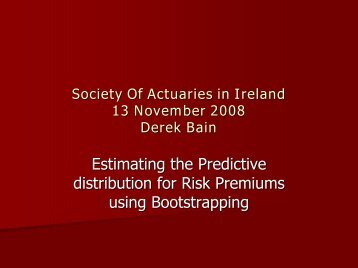 Estimating the Predictive distribution for Risk Premiums using ...