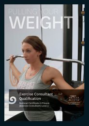 View the brochure for this qualification - Skills Active