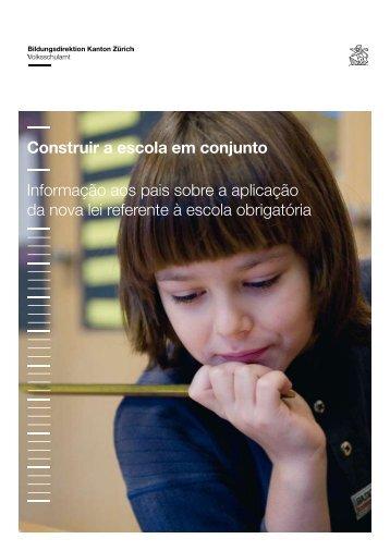 Construir a escola em conjunto Informação aos pais sobre a ...