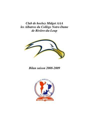 Club de hockey Midget AAA les Albatros du Collège Notre-Dame de ...