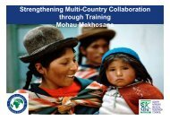 Strengthening Multi-Country Collaboration through Training - Sexual ...