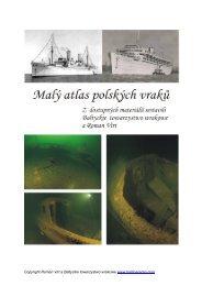 Malý atlas polských vraků - Strany potápěčské