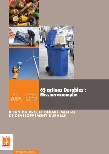 Bilan du Projet Départemental - Département de Seine-Maritime