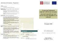 Il ruolo dei Parlamenti regionali nell'Unione europea: strumenti ...