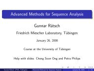 T - Algorithms in Bioinformatics