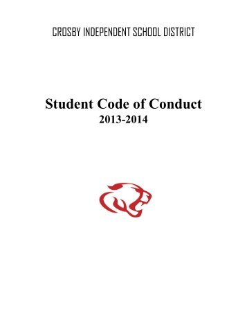 Student Handbook - Crosby ISD
