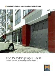 Port för flerbilsgarage ET 500 - Ett 2 Tre Garageportar AB