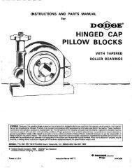 "Da!iGE"" HINGED CAP PILLOW BLOCKS - PTplace.com"