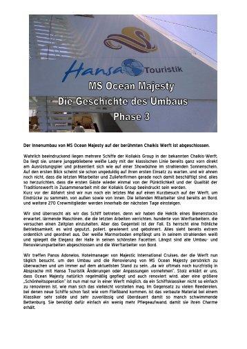 Der Innenumbau von MS Ocean Majesty auf der ... - Hansa Touristik