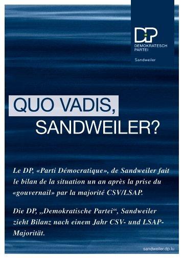 QUO VADIS, SANDWEILER? - DP